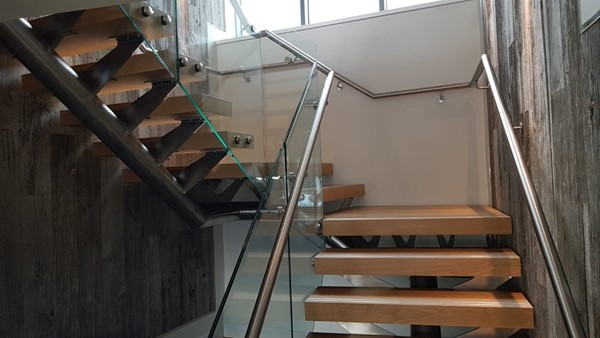 Stainless Steel staircase lakeland hotel